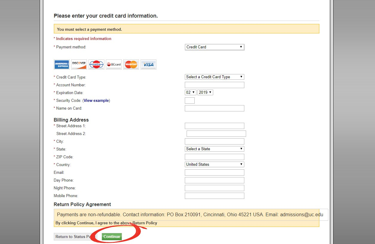 Screenshot with arrow pointing to awaiting payment section