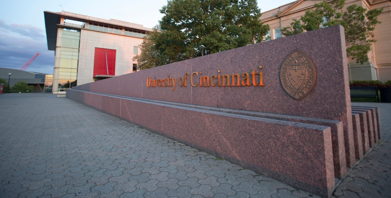 UC welcome sign.